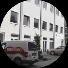 Hof der Frankfurter Musikschule Bandschmiede