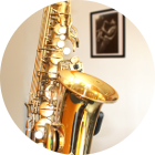 Saxophonunterricht in der Bandschmiede