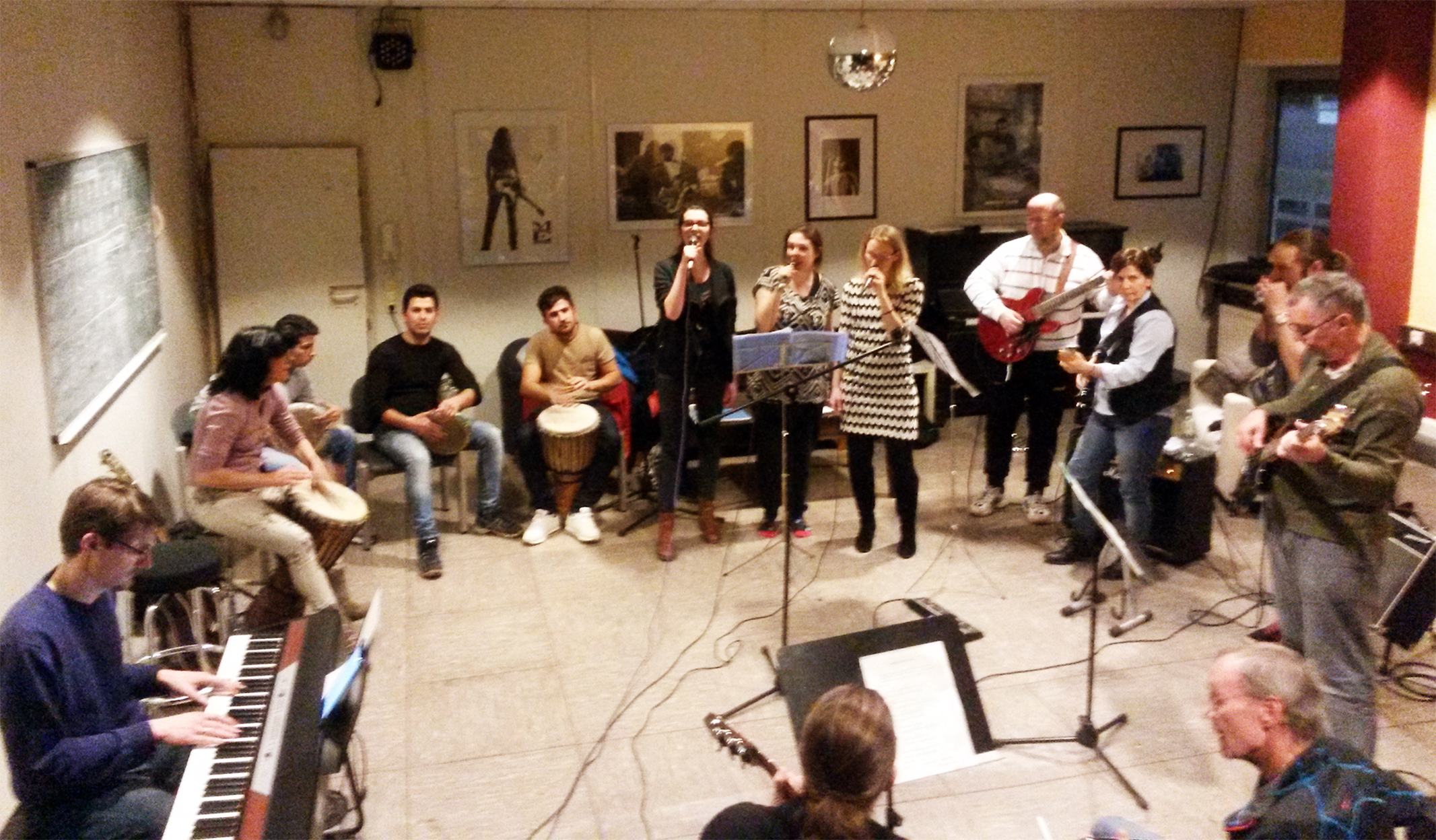 Session am 18.02.2016 in der Frankfurter Musikschule Bandschmiede